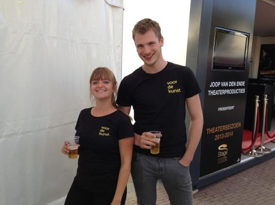 Kristel en Nico voldaan na de eerste dag Uitmarkt