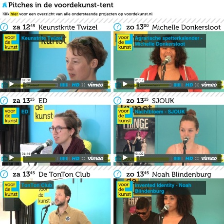 Uitmarkt pitches facebook